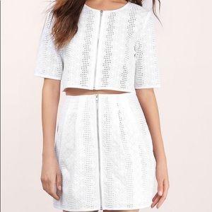 Tobi 2-piece Eyelet top & skirt
